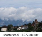 stony tower and scenic housing... | Shutterstock . vector #1277309689