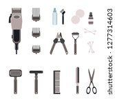 set of hairdressing tools and... | Shutterstock .eps vector #1277314603