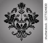 damask graphic ornament. floral ... | Shutterstock . vector #1277324830