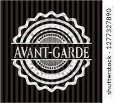 avant garde silver shiny badge   Shutterstock .eps vector #1277327890