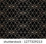 golden linear pattern. vector... | Shutterstock .eps vector #1277329213