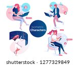 people work and interacting... | Shutterstock .eps vector #1277329849