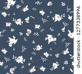 cute floral pattern of small... | Shutterstock .eps vector #1277338996