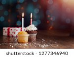 creative background  cupcake... | Shutterstock . vector #1277346940