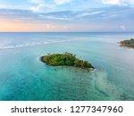 An Aerial View Of Muri Lagoon...