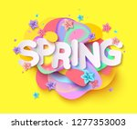 spring background with paper... | Shutterstock .eps vector #1277353003