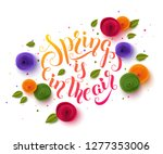 spring background with paper... | Shutterstock .eps vector #1277353006