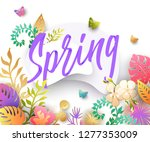 spring background with paper... | Shutterstock .eps vector #1277353009