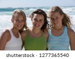 group of teenage girls on... | Shutterstock . vector #1277365540