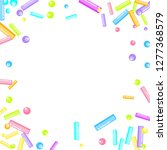 sprinkles grainy. sweet... | Shutterstock .eps vector #1277368579
