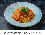 udon noodles with seafood | Shutterstock . vector #1277371903