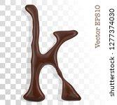 letter k from chocolate... | Shutterstock .eps vector #1277374030