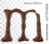 letter m from chocolate... | Shutterstock .eps vector #1277374033