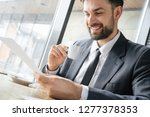 businessman on business lunch...   Shutterstock . vector #1277378353