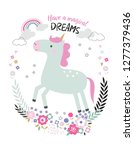 beautiful unicorn with the... | Shutterstock .eps vector #1277379436