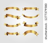 set of golden ribbons vector.   Shutterstock .eps vector #1277379580