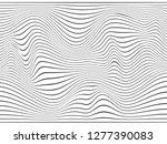 warped lines.overlay background....   Shutterstock . vector #1277390083