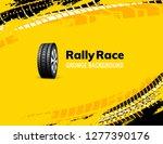rally race grunge tire dirt car ... | Shutterstock .eps vector #1277390176