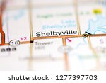 Shelbyville. Illinois. USA on a geography map
