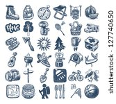 sketch doodle icon collection ... | Shutterstock . vector #127740650