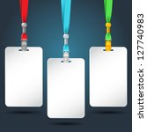 set of blank badges with color... | Shutterstock .eps vector #127740983
