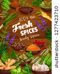 spices and herbs food... | Shutterstock .eps vector #1277423710
