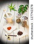 natural remedy - stock photo