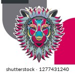 the vector logo lion for t... | Shutterstock .eps vector #1277431240