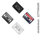 audio cassette icon in cartoon... | Shutterstock .eps vector #1277436100