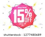 sale 15  off  flash discount... | Shutterstock .eps vector #1277480689