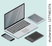 vector isometric electronic... | Shutterstock .eps vector #1277481376