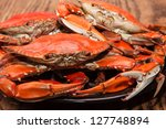 Hot Steamed Blue Crabs  Symbol...