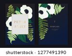 wedding invitation  floral...   Shutterstock .eps vector #1277491390
