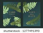 wedding invitation  floral...   Shutterstock .eps vector #1277491393