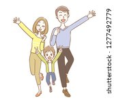 illustration of family. they... | Shutterstock .eps vector #1277492779
