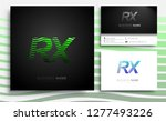 letter rx logotype with... | Shutterstock .eps vector #1277493226
