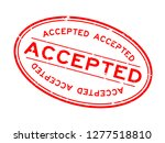 grunge red accepted word oval... | Shutterstock .eps vector #1277518810