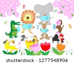insects and animal concerts... | Shutterstock .eps vector #1277548906
