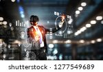 experiencing virtual technology ... | Shutterstock . vector #1277549689
