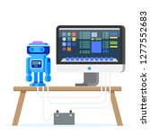 robot programming flat... | Shutterstock .eps vector #1277552683