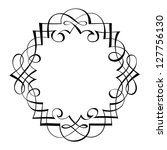calligraphy ornamental...   Shutterstock .eps vector #127756130