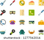 color flat icon set   cheese... | Shutterstock .eps vector #1277562016