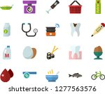 color flat icon set   poached... | Shutterstock .eps vector #1277563576