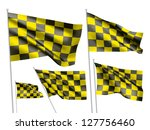 yelow racing checkered vector... | Shutterstock .eps vector #127756460