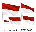 indonesia vector flags set. 5... | Shutterstock .eps vector #127756469