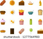 color flat icon set   sausage... | Shutterstock .eps vector #1277564983
