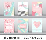 set of valentine's day card on... | Shutterstock .eps vector #1277575273