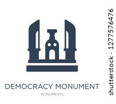 democracy monument icon vector... | Shutterstock .eps vector #1277576476
