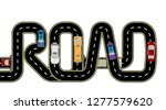 road  cars. highway stylized... | Shutterstock .eps vector #1277579620