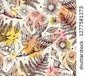 seamless floral pattern with... | Shutterstock .eps vector #1277581273